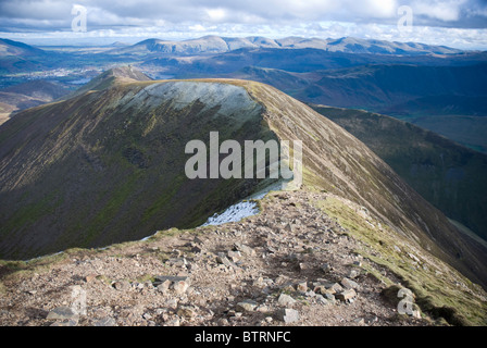 View from Crag Hill towards Sail on the Coledale Horseshoe, Lake District, Cumbria - Stock Photo