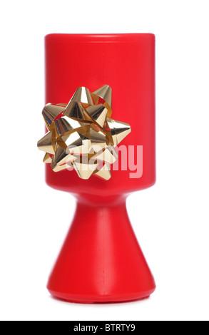 Christmas Charity collection tin studio cutout - Stock Photo