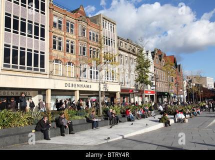 Nottingham city centre, England, U.K. - Stock Photo