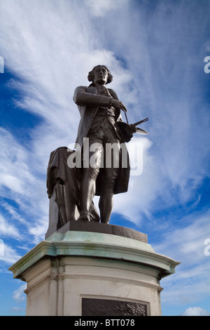The statue of artist Thomas Gainsborough in Sudbury, Suffolk. - Stock Photo
