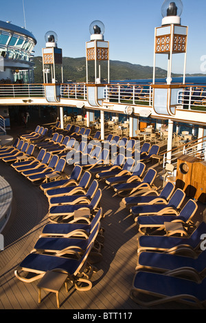 Azura cruise ship deck decks layout graphic detail - Stock Photo