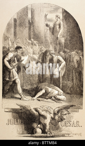 Illustration by Sir John Gilbert for Julius Caesar by William Shakespeare. - Stock Photo