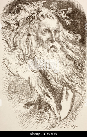 Illustration for King Lear by William Shakespeare. - Stock Photo