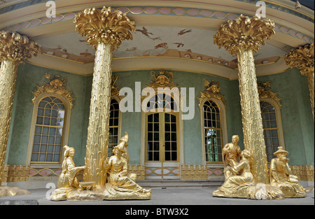 The Chinese tea house in Sanssouci Palace Potsdam, Germany Europe, UNESCO World heritage - Stock Photo