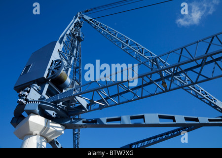 Dock Crane on the Quays, Now a Sculptural Exhibit, Waterford City, Ireland - Stock Photo
