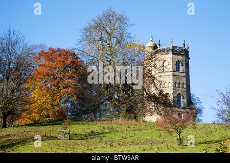 Culloden Tower Richmond North Yorkshire England - Stock Photo