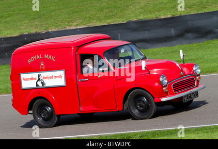 1968 Morris Minor 1000 Royal Mail van at the Goodwood Revival, Sussex, England, UK. - Stock Photo