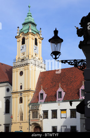 Old Town Hall in the center of Bratislava, Slovakia - Stock Photo