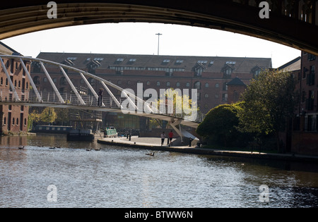 Castlefield Canal Basin near the junction of The Rochdale and Bridgewater Canals Manchester England