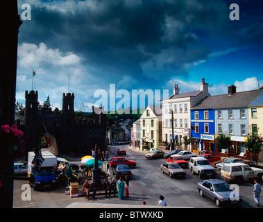 Macroom Castle, Town Square, Macroom, Co Cork, Ireland - Stock Photo
