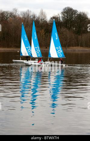 Sailing at Strathclyde Park, Motherwell, Lanarkshire, Scotland, UK, Western Europe. - Stock Photo
