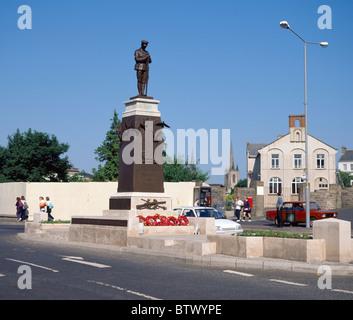 Remembrance Day Memorial, Site Of The Enniskillen Bombing, Enniskillen, Co Fermanagh, Ireland - Stock Photo