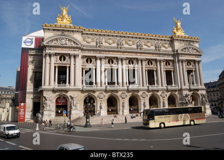 Place De L'Opera, Palais Garnier located on Avenue D'Opera in Paris, is located in a square known as the Hub of - Stock Photo