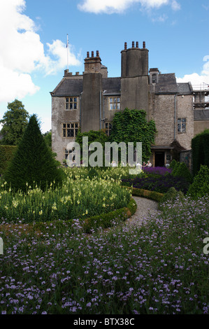Levens Hall and Historic Topiary Garden in South Cumbria, England, UK. - Stock Photo