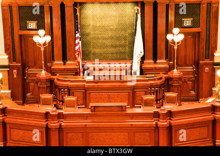 Springfield, Illinois - inside State Capitol Building - Stock Photo