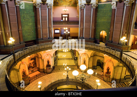 Springfield, Illinois - inside State Capitol - Stock Photo