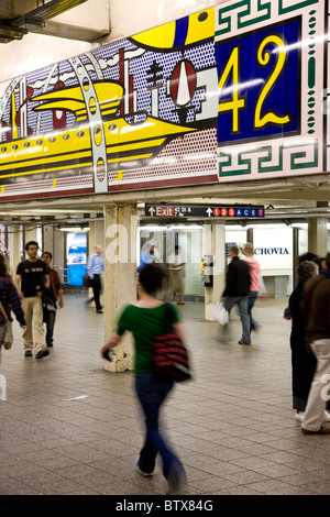 Times Square Subway station - Stock Photo