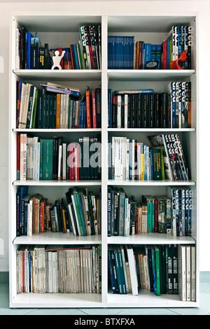 Bookcase full of Architecture books - Stock Photo