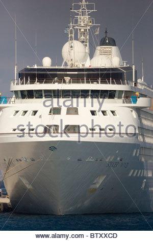 Greek ship cruise liner Greece - Stock Photo