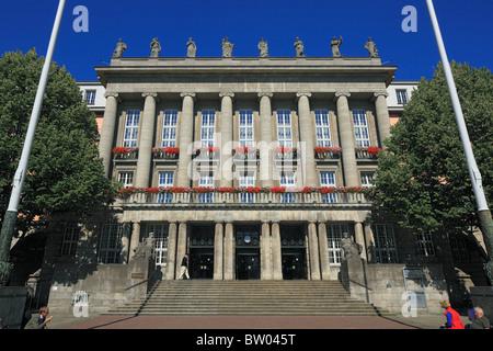Klassizistisches Rathaus Barmen am Johannes-Rau-Platz in Wuppertal-Barmen, Wupper, Bergisches Land, Nordrhein-Westfalen - Stock Photo