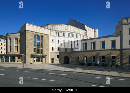 Opernhaus der Wuppertaler Buehnen und des Tanztheaters Pina Bausch in Wuppertal-Barmen, Wupper, Bergisches Land, - Stock Photo