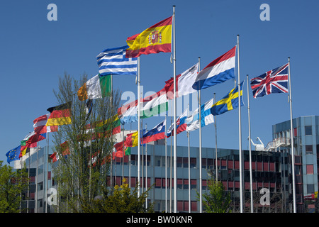 Flags of EU members, Luxembourg - Stock Photo