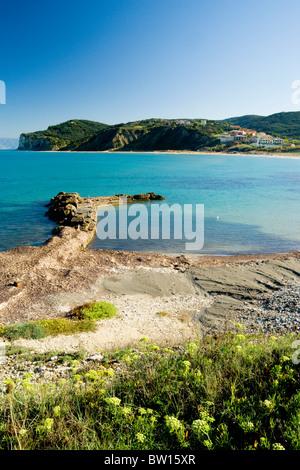 San Stefano Beach North West Corfu Ionian Islands Greece Stock Photo Royalty Free Image