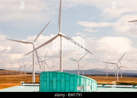Whitelee wind farm on Eaglesham Moor just south of Glasgow in Scotland, UK, is Europe's largest onshore wind farm. - Stock Photo