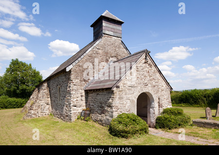 The 14th century St Marys church, Llanywern, Powys, Wales - Stock Photo