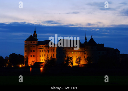 Torgau Burg Nacht - Torgau castle night 03 - Stock Photo