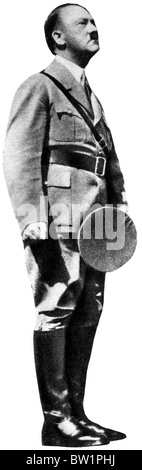 Hitler, Nuremberg, 1938 photo of the Fuhrer standing to attention at a Nazi rally in the Bavarian city - Stock Photo