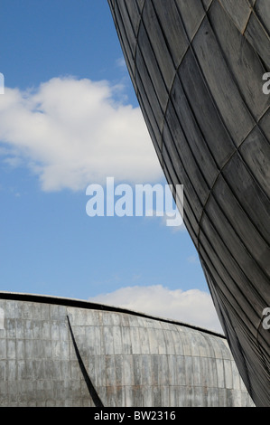 Architectural detail, Auditorium Parco della Musica, designed by Renzo Piano - Stock Photo