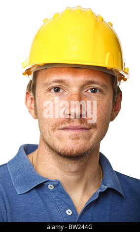fine portrait of labor isolated on white background - Stock Photo