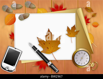 autumn air in illustraion - Stock Photo