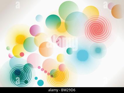 colorful circled pattern - Stock Photo