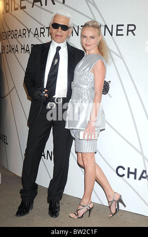 Mobile Art: CHANEL Contemporary Art Container by Zaha Hadid Opening Night Party - Stock Photo