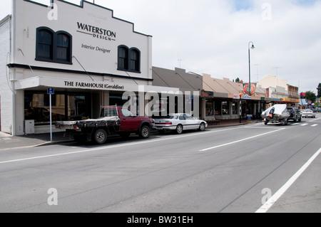 Famous Delicatessen, ,Hunger for The Wild Film,Al Brown & Steve Logan,Geraldine,Town, South Island,New Zealand - Stock Photo