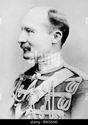 Portrait photo circa 1900 of General Robert Baden-Powell (1857 - 1941) - British soldier and founder of the Scout - Stock Photo