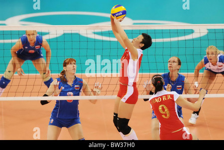 Aug 19, 2008, Beijing, China, FENG Kun. China women's volleyball team 3:0 Russia in the quarterfinal during the - Stock Photo