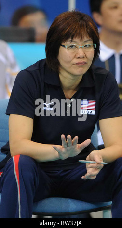 Aug 19, 2008, Beijing China, LANG Ping. US women's volleyball team 3:2 Italy in the quarterfinal during the Beijing - Stock Photo