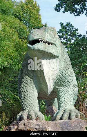Crystal Palace Dinosaur Iguanodon 1 - Stock Photo