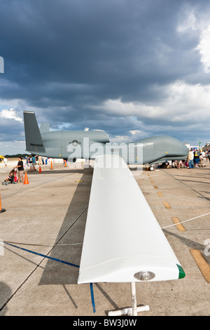 Northrop Grumman RQ-4 Global Hawk Unmanned Aerial Vehicle (UAV) at air show at NAS Jacksonville, Florida - Stock Photo