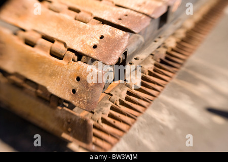 Crawler track, heavy machinery - Stock Photo