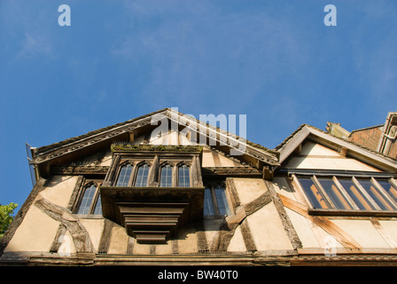 Half-timbered house, Oxford, Oxfordshire, England, United Kingdom, Europe - Stock Photo