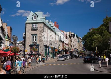 Souvenir shop between Rue Saint-Angele and Rue Cote de la Fabrique, Upper Town, Old Quebec, Quebec City, Quebec, - Stock Photo