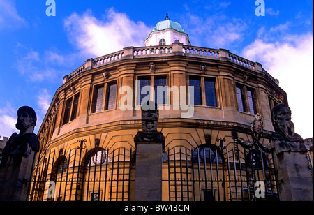 Facade of the Sheldonian Theatre, Broad Street, Oxford - Stock Photo