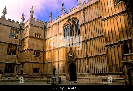 Divinity School, Bodleian Library, Oxford, England - Stock Photo