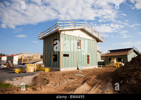 House building site in Finland - Stock Photo