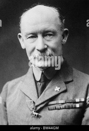 Portrait photo c1910s of Robert Baden-Powell (1857 - 1941) - the British Army General who was the founder of the - Stock Photo
