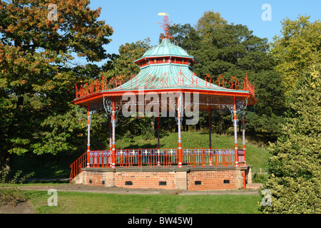 The Bandstand following restoration, situated in Sefton Park, Liverpool, Merseyside, England, United Kingdom - Stock Photo
